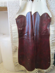 Vintage Western Cowboy / Cowgirl Leather Fringed Chaps