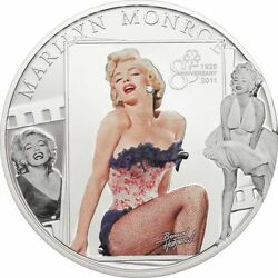 Andcurrenrareandcurren Cook Islands 5 2011 Silver Proof Marilyn Monroe With Real Diamond Insert