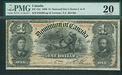 Canada, 1 Outward One's Series N Dc-13c Pmg Grade 20