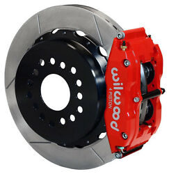 Wilwood Disc Brake Kit,rear Parking,big Ford New,2.50,13 Rotors,red Calipers