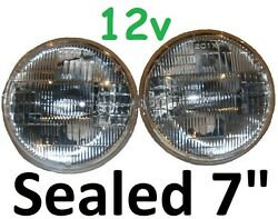 7 Sealed Beam Hi/lo 12v 75/50w Headlights Fit Land Rover Series 1 2 2a 3