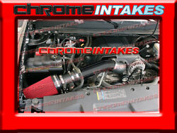 07-08 Chevy Avalanche/suburban/tahoe/escalade Cold Air Intake Kit 4 Black Red