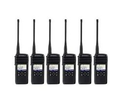 6 New Motorola 900 Mhz Dtr600 Radios And Chargers And Holster Replaces Dtr550 Dtr410