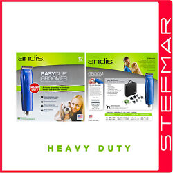 Andis Dog Clippers Easyclip Mbg2 Blue Groom With 6 Guide Combs Au240v 10 Blade