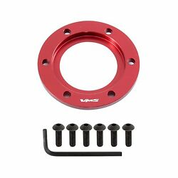 Vms Steering Wheel Horn Button Surround Center Ring With For 6 Bolts Billet Red