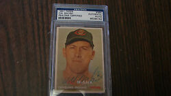 Cal Mclish Autograph / Signed 1957 Topps 364 Card Cleveland Indians Psa/dna