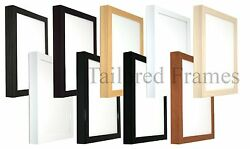 Deep Art Picture Frames In 9 Colours Wooden Blackwhitebrownnatural. New