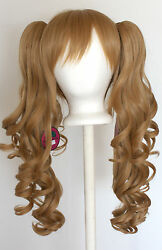 23'' Curly Pig Tails + Base Hazelnut Brown Cosplay Wig NEW