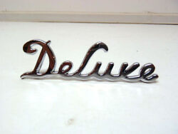 Ford Deluxe Standard Car And Pickup Truck Deluxe Script Hood Side Emblem 3940