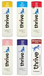 Pet Project Thrive Cat Treats 100 Real Meat Freeze Dried Natural Case 12 X Tube