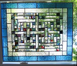 Woven Stained Glass Window Panel Ebsq Artist