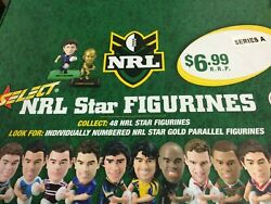 2008 Select Nrl Stars Figurines Factory Box A + Box B 2 Boxes-total 60-value