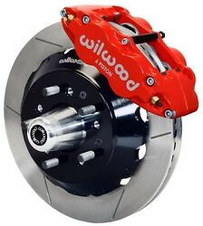 Wilwood Disc Brake Kit,front,65-69 Ford,mercury,13 Rotors,red Calipers