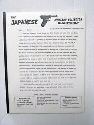 Japanese Military Collector 1972 Quarterly Magazine 4 Issues Vg