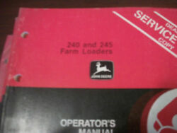 John Deere Tractor Operator's Manual 240 And 245 Farm Loaders Issue B1