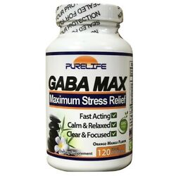 Purelife Gaba Max For Stress Anxiety Relief Relaxation Mood Focus 60 Serves 120g