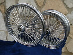 18x3.5 And 16x5.5 Dna Mammoth 52 Fat Daddy Spoke Wheels 4 Harley Softail And Touring