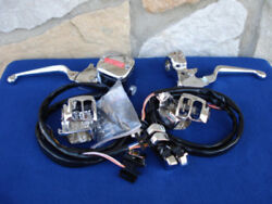 Handlebar Control Kit With Chrome Switches For Your Harley 1996-2006