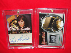 Battlestar Galactica lot of 2 Autograph & Prop Cards