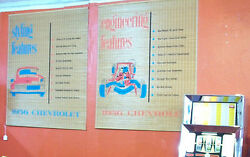 2 Large 1956 Chevrolet Dealership Rattan Advertising Signs44x36excellent