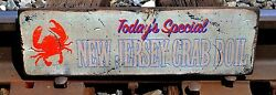 Custom Todayand039s Special- Crab Boil Wood Sign - Rustic Hand Made Vintage Wood Sign