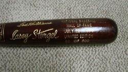 1966 Hall Of Fame Brown Bat Ted Williams Casey Stengel