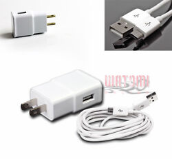 100 2a Power Adapter+10and039 Micro Usb Cable Data Charger White Lumia 800 G2 Optimus