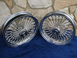 16x3.5 Dna Mammoth 52 Fat Daddy Spoke Wheel Set For Harley Softail And Touring