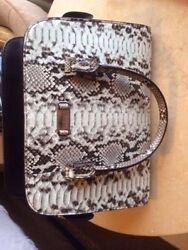 Michael Kors Genuine Python Leather Gia SatchelNaturalNS Msrp $2195.00 NEW