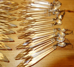 50 Vintage French Udrop Crystal Glass Prism Lamp Chandelier Parts Great Conditio