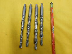 Lot Of 4 Combo Drill And Countersink 1/4 X 3/8 Lathe Mill Tool Bit Morse Usa