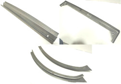Ford 3w Three Window Coupe Trunk Rain Gutter Trough Kit Top/ Sides/ Bottom 1932