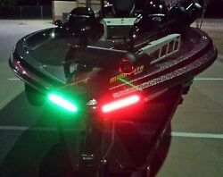 Boat Bow Led Lighting Red And Green 12 Fully Submersible Marine