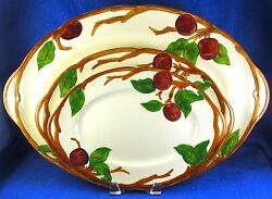 Franciscan Apple Pattern Four 12-14 Serving Platters Made In Usa - Estate