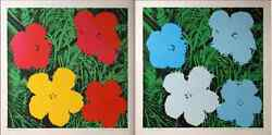Andy Warhol Flowers 2 Posters By Nouvelle Images Editours France Made In 1970