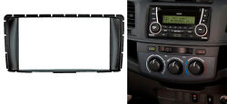 2 Din Radio Stereo Panel For Toyota Hilux Fortuner Dash Install Mount Trim Kit