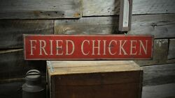 Primitive Fried Chicken Sign - Rustic Hand Made Vintage Wooden Sign ENS1000325