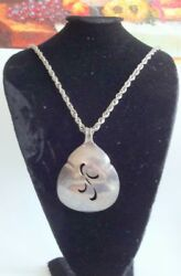 Vintage Unisex Silver Plated Signed 1847 Rogers Spoon Massive Pendant Necklace
