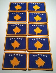 20 Kosovo Flag Iron-on Patch Tactical Military Army Emblem Embroidered