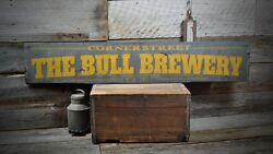 Custom Brewery Beer Sign - Rustic Hand Made Vintage Wooden Sign