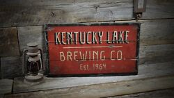 Custom Brewing Company Est. Date Sign - Rustic Hand Made Wooden Sign