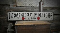 Custom Groceries And Dry Goods Sign -rustic Hand Made Vintage Wood Sign