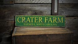 Custom Farm City State Sign - Rustic Hand Made Vintage Wooden Sign