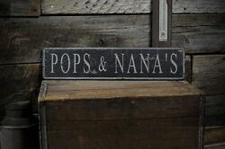 Custom Grandparentand039s Place Sign - Rustic Hand Made Vintage Wooden