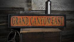 Grand Canyon East Custom Sign - Rustic Hand Made Vintage Wooden