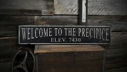 Custom Location And Elevation Sign - Rustic Hand Made Vintage Wooden
