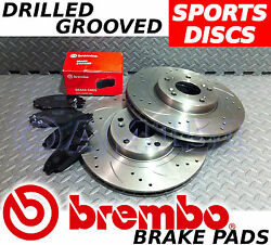 Vauxhall Astra Zafira 240bhp Vxr Front Drilled/grooved Brake Discs And Brembo Pads
