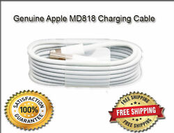 2 X Genuine Apple Iphone 5 5s 5c Ipad Lightning Usb Data Cable Charger Sync Lead