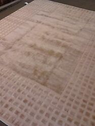 Modern Solid Rug 8and039x10and039 Wool Woven Carpet Camel Color New Texture Any Room New