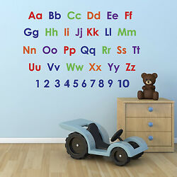 Alphabet and Numbers Wall Stickers Pack educational nursery stickers
